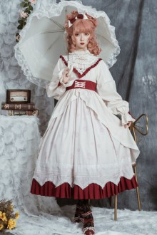 North Mirror Flower Series OP Nordic Court Style Autumn Winter Classic Lolita Dress
