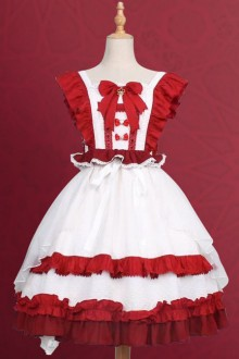 Sweet Tea Tale Series Ruffle Little Flying Sleeve Sweet Lolita Dress