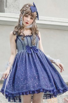 Blue Gradient Starry Sky Classic Lolita Dress