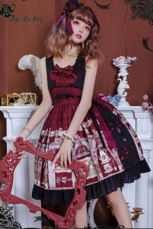 Magic Tea Party Wine Miss Jasmine Autumn and Winter Sweet Lolita JSK Dress