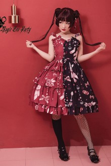 "Magic Tea Party ""Chocolate Rabbit"" Two-color Retro Sweet Lolita JSK Dress"