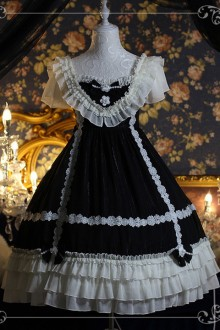 "18th Birthday Gift ""Black Wedding Dress"" Dark Sweet Lolita Dress"