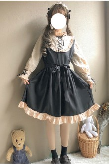 Original Retro Cute Bow Long Sleeve Sweet Lolita Dress