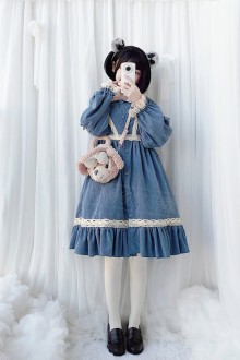 Original Fashion Retro Long Sleeve Sweet Lolita Dress 2 Colors