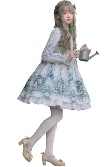 "Original New ""Four Times"" Sweet Lolita Dress 2 Colors"