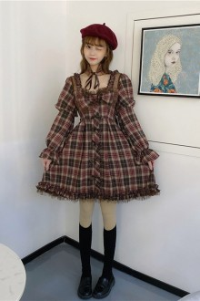 Original Genuine High Waist Flared Sleeves Sweet Lolita Dress