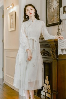 Original 2020 New Retro Long Waist Sweet Lolita Dress