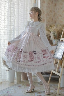 "Original Authentic ""Handle Doll"" Retro High Waist Gothic Lolita  JSK Dress 2 Colors"