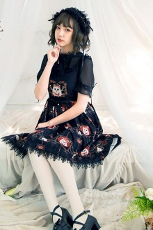 "Original Design ""Crown Cat"" Gothic Lolita JSK Dress"