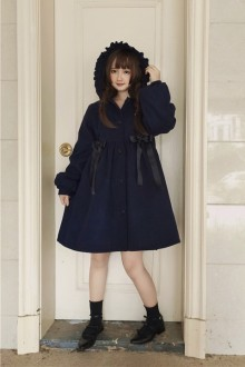 Original Authentic Velvet Thick Hidden Blue Sweet Lolita Dress