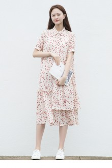 Original New Literary Retro Irregular Multilayer Chiffon Color Sweet Lolita Dress