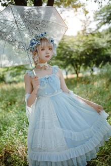 Original New Chiffon Sky Blue Sweet Lolita JSK Dress