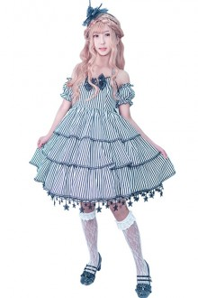 "Original Design ""Black And White Broken Chapter"" Sweet Lolita JSK Dress"
