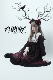 "Original Design ""Sleeping Aurora"" Gothic Lolita Dress"