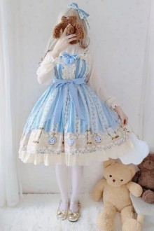 Original Design New Light Blue Sweet Lolita JSK Dress