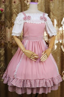 Original Design Chiffon Pink Healing Sweet Lolita Dress