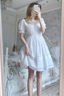 Original Design 2020 New White Sweet Lolita Dress