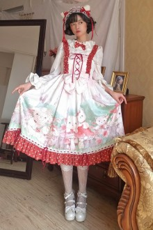 "Original ""Mist Deep Forest"" Sweet Lolita JSK Dress"