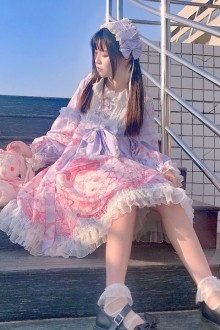 "Original Design New ""Rabbit"" Sweet Lolita OP Dress 2 Colors"