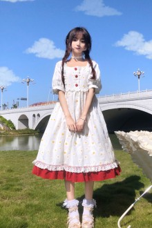 2020 New Pure White Sweet Lolita Dress