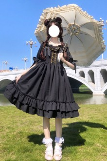 Original New Black Sweet Lolita Dress