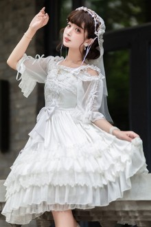 Original Authentic White Elegant Sweet Lolita JSK Dress