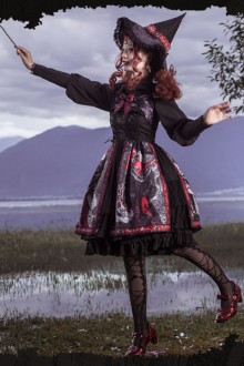 "Original Design New ""Witch Shape"" Gothic Lolita JSK Dress"