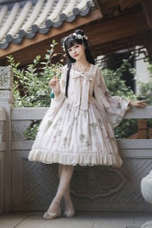 "Original Design ""Compendium Of Materia Medica""  Printed Sweet Lolita Dress"