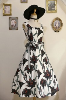 "Original Design ""Black Lily"" Sweet Lolita JSK Dress"