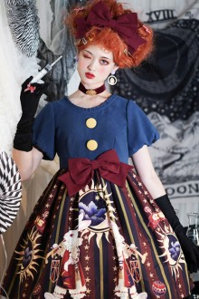 "Original Design New ""Circus Rabbit"" Short Sleeve Sweet Lolita OP Dress 2 Colors"
