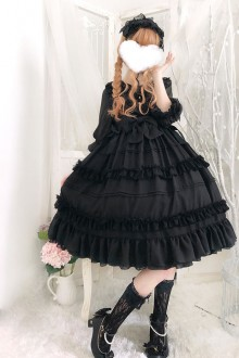 "Original Design Genuine Short Sleeve ""Starry Angel Dream Flower Marry"" Sweet Lolita OP Dress 2 Colors"