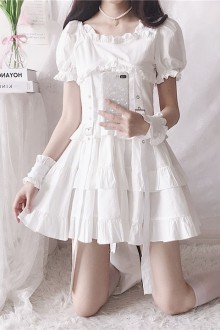 "Original Design ""Assassination OF Loli"" Short-Sleeved Gothic Lolita Dress 2 Colors"