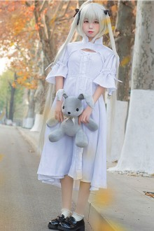 "Original Design ""Fate Of The Fate"" White Sweet Lolita Dress"