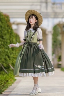 "Original Design ""Bie Zhi"" Short Sleeve Embroidery Classic Lolita OP Dress"