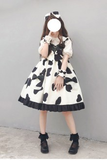 "Original Design ""Dalmatian"" Sweet Lolita JSK Dress"