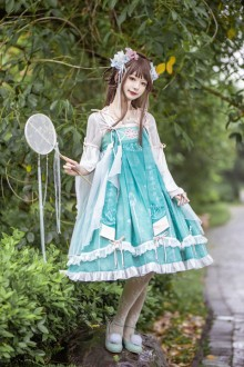 Original 2020 New Embroidery Chinese Style Sweet Lolita Dress 3 Colors