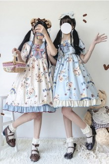 "Original Design ""Moon Island"" Sweet Lolita OP Dress 2 Colors"