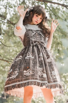 "Original ""Bear Biscuit"" Sweet Lolita JSK Dress 2 Colors"