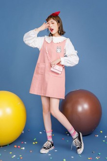 Original Bow Sleeveless Pink Sweet Lolita Dress