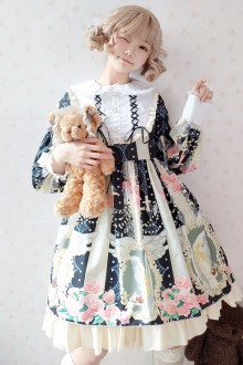 "Original ""Cabbage Girl"" Print Special Price Sweet Lolita OP Dress 5 Colors"