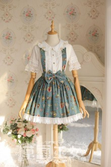 "Original Design Strawberry Witch ""Mechanical Balloon"" Sweet Lolita SK Dress 2 Colors"