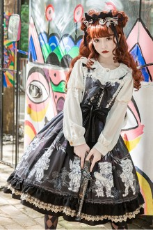 "Original Design ""Evil Cat"" Gothic Lolita JSK Dress 2 Colors"