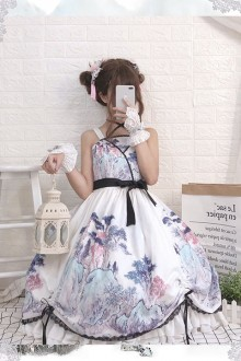 "Original Design ""Meditation"" Sweet LolitaFull JSK Dress"