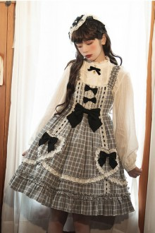 Original Design Black And White Plaid Sweet Lolita JSK Dress