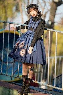 "Original Design Magic Tea Party ""No Survival"" Sweet Lolita JSK Dress 3 Colors"