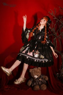 "Original Design Magic Tea Party ""Little Ada's Flower"" Sweet Lolita OP Dress 4 Colors"