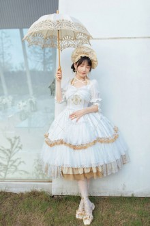 "Original Design ""Oath"" Long Sleeve Detachable Classic Lolita OP Dress"