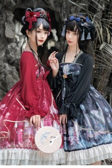 "Original Design ""Shadow Under The Moon"" Chinese Style Classic Lolita OP Dress 3 Colors"