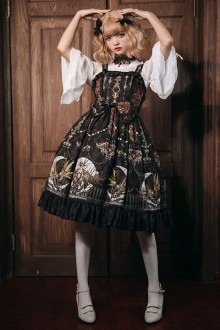 Original Design <Moon Altar> Black Classic Lolita JSK Dress