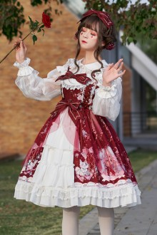 Original Design <Raccoon Hydrangea> Sweet Lolita JSK Dress 2 Colors